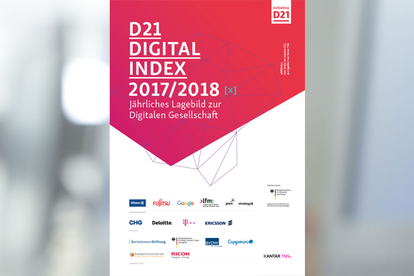 Titelblatt der Studie D21 Digital Index 2017/2018